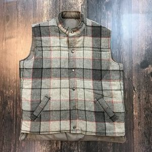 VTG MAINSTREAM By Duofold Plaid Wool Blend Vest